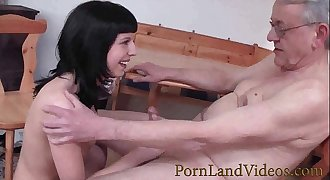 young german hoe sucking and fucking old man