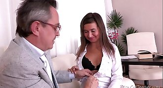 Being young and inexperienced Maia thinks she wants to suck her teachers shaft