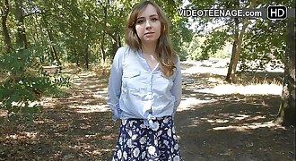 bashful teenager does porn casting