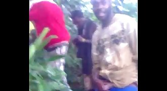 African Teenager Gangbang In The Forest