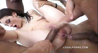 Teen hard anal gangbang